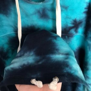 Empyre Shirts - Blue tie dye hoodie